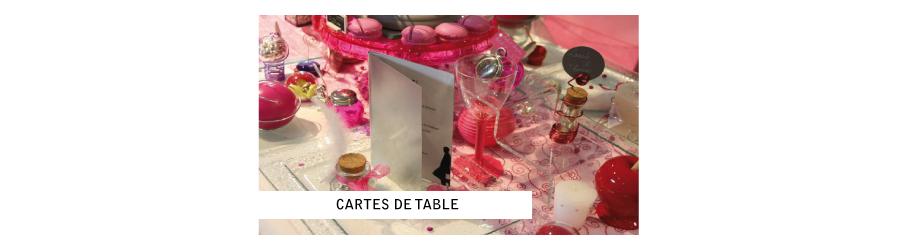 Cartes de table