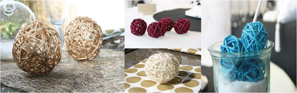d coration en rotin pas cher boules en rotin pour votre mariage. Black Bedroom Furniture Sets. Home Design Ideas