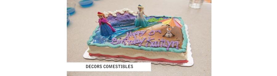 décors de gâteaux comestibles pour l'anniversaire de votre enfant