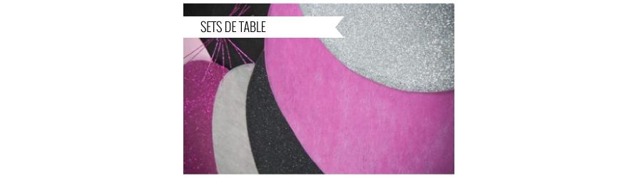 Set de table mariage dessous d 39 assiette pas cher - Set de table en anglais ...