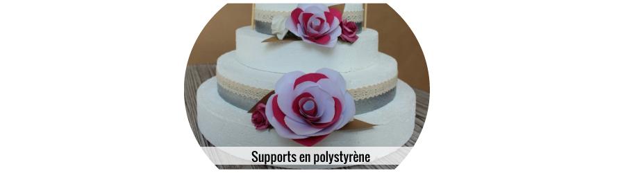 Support en polystyrène