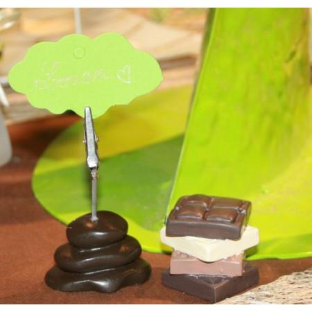 Porte nom galets - chocolat