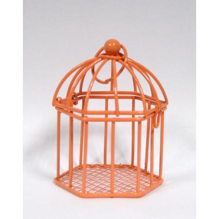 Cage en métal - 7 cm - orange