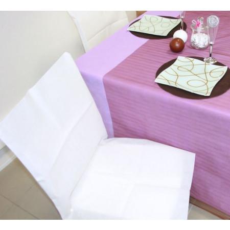 Housses de chaises - x10 - blanc