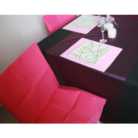 Housses de chaises - x10 - fuchsia