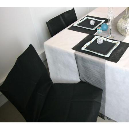 Housses de chaises - x10 - noir