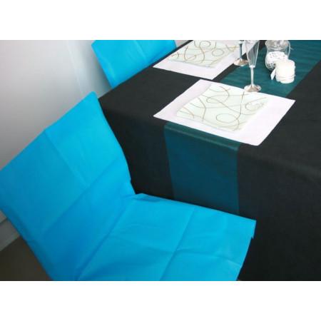 Housses de chaises - x10 - turquoise