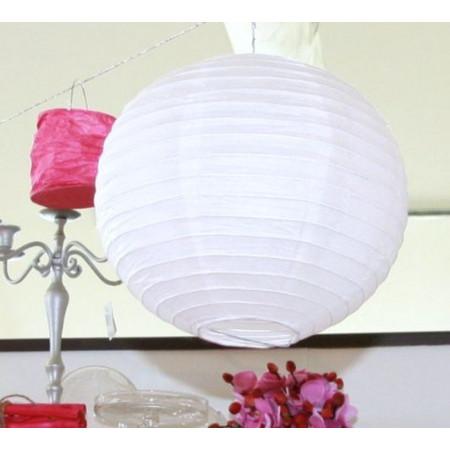 Lampion boule de déco - blanc