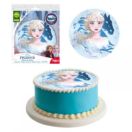 decoration à gâteau anniversaire 20 cm - Reine des Neiges