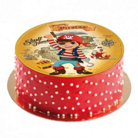Disque à gâteau en azyme Pirate