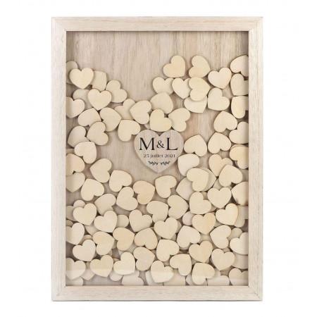 Livre d'or 100 messages en bois