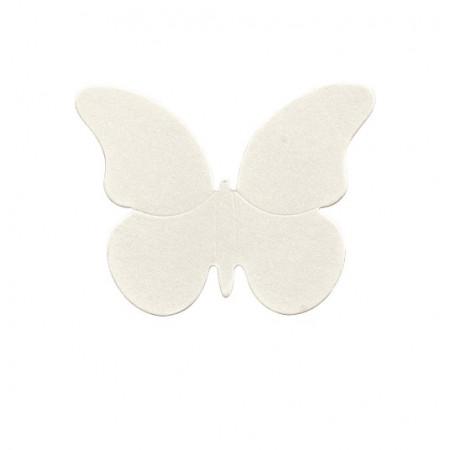 10 Papillons déco blancs