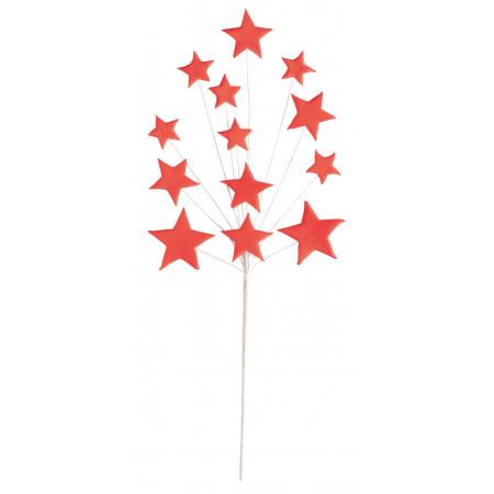 Décor en sucre Arbre à étoiles - Rouge