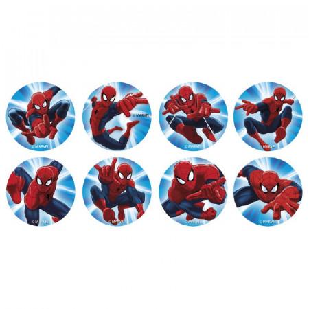 16 Disques à cupcakes Spiderman