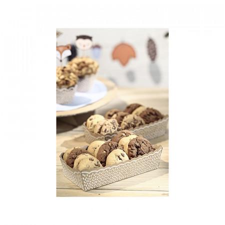 Boîte présentation biscuits carton kraft x 6