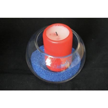 Vase verre rond transparent hauteur 10 cm -2