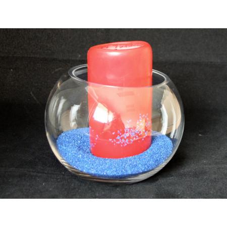 Vase verre rond transparent hauteur 10 cm -1