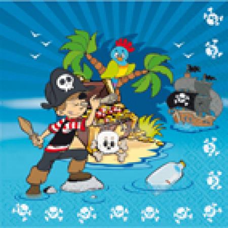 Serviettes Pirates