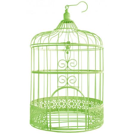 Urne cage oiseau - verte