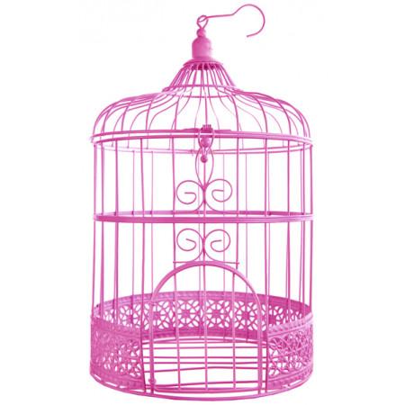 Urne cage oiseau - fuchsia