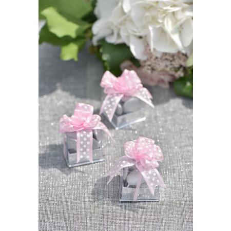 4 boîtes à dragées cubes argent -2