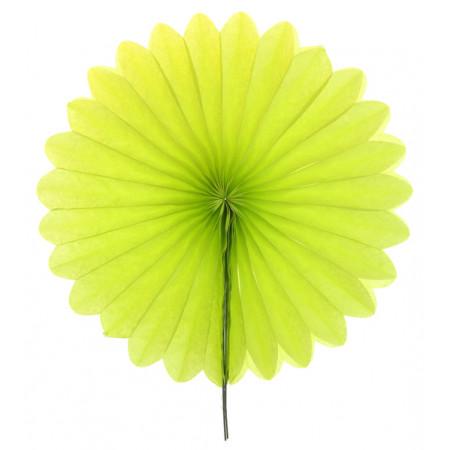2 éventails en papier - 20 cm vert