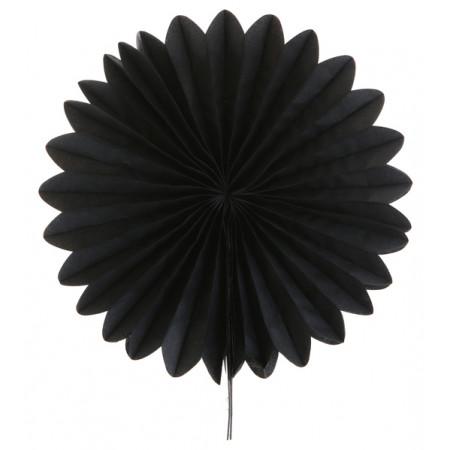 2 éventails en papier - 20 cm noir