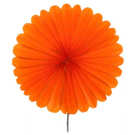 2 éventails en papier - 20 cm orange