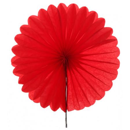 2 éventails en papier - 20 cm rouge