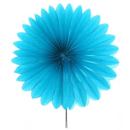 2 éventails en papier - 20 cm turquoise