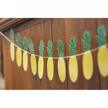 Guirlande ananas jaune et vert