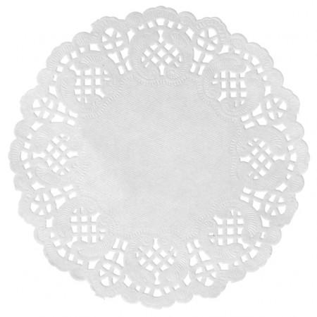 10 Sets de table dentelle  - blanc