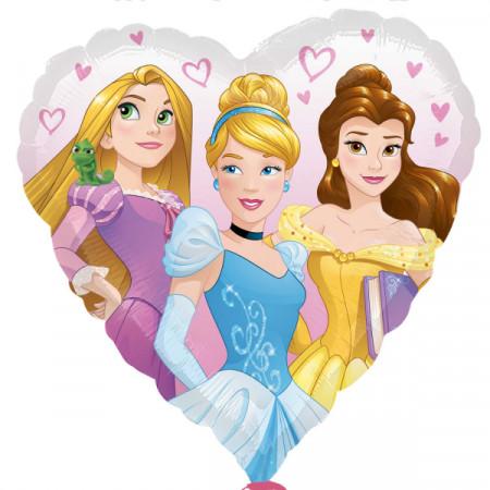 Ballon coeur princesses Disney