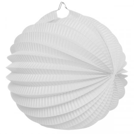 Boule déco accordéon blanche 1