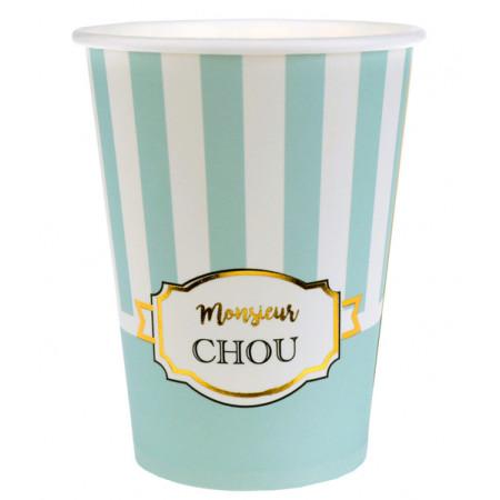 10 gobelets Baby Shower monsieur chou
