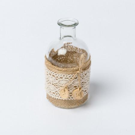 Vase jute et dentelle - 1