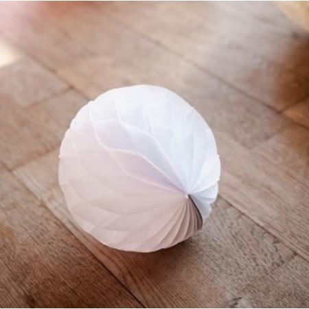 10 boules alvéolées - blanches
