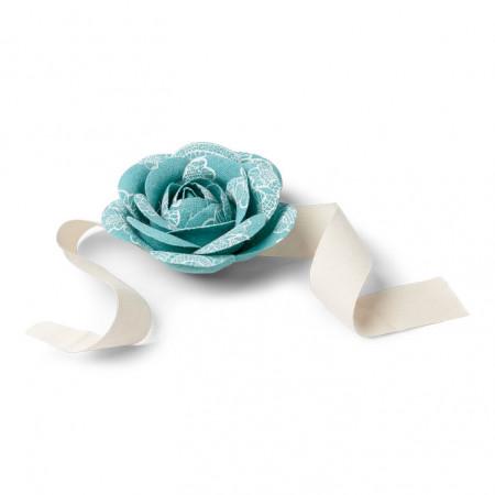 fleurs rubans émeraude 1