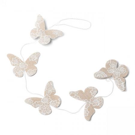 Guirlande papillons lin - 1.20m  2