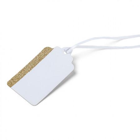 10 étiquettes blanches et or - 1