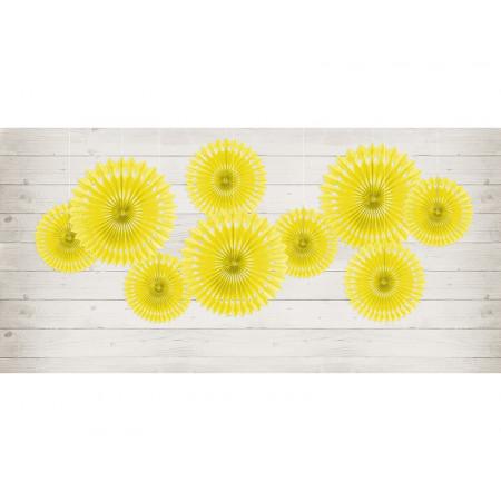 3 rosaces couleur jaune