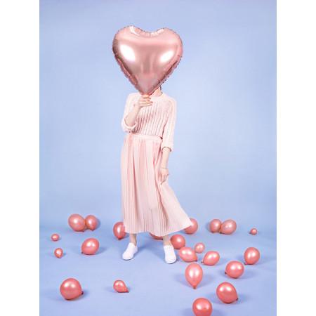 Ballon coeur rose gold brillant