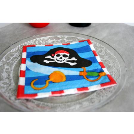Serviettes Accessoires de pirates - Pirates - x16 - PM