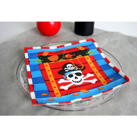 Serviettes Coffre au trésor - Pirates - x16