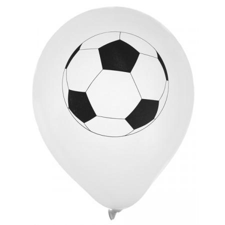 lot de 8 ballons blanc foot
