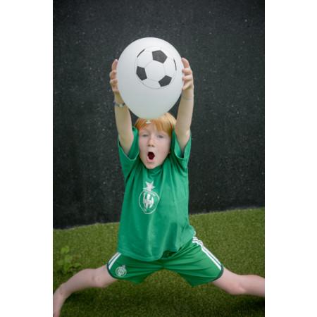 8 ballons blanc motif ballon de foot