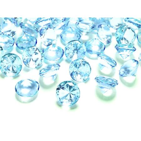 Diamant rond bleu ciel transparent