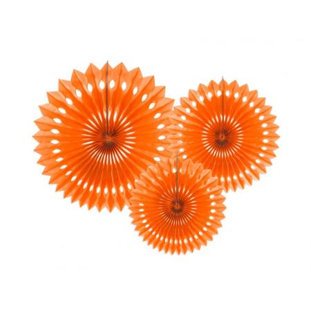 3 rosaces orange