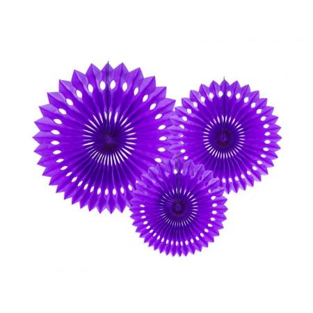 3 rosaces violettes