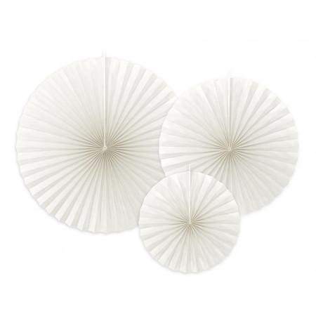 3 rosaces décoratives blanches